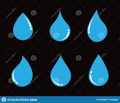 Water Drops Template Water Drop Logo Template Vector Illustration Stock Vector