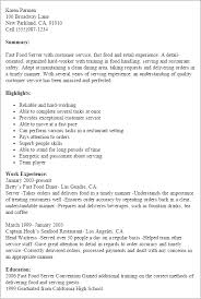 Resume Examples For Fast Food Resume And Cover Letter Resume And