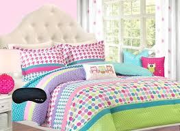 adorable girls teen kids twin twin xl comforter bedding set polka dot geometric look