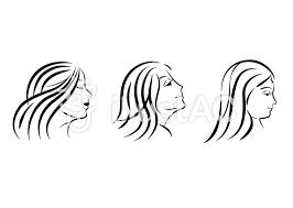 女性の横顔 シルエット イラスト素材イラスト No 1221495無料