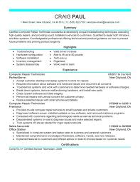 17 Computer Technician Resume Sample Recommended Samples