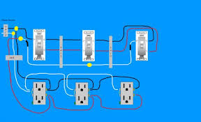 need diagram help on easiest way to wire split receptacles on 4 Light Switch Outlet Combo Wiring-Diagram at Wiring Diagram 4 Outlets 1 Switch