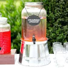 glass beverage dispenser with tap