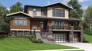 glamorous house plans for hillside lots 1 home side sloping lot steep mod on sloped