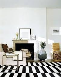 black striped rug and white stripe black