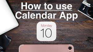how to use iphone calendar app