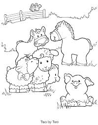 Unique Barn With Animals Coloring Pages Teachinrochestercom