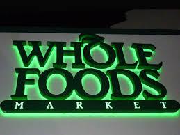 whole foods custom reverse channel letter