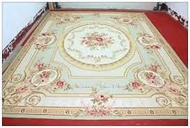 10a14 pastel blue ivory pink aubusson area rug large carpet french shabby chic area rugs shabby