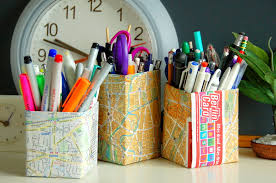 Thrifty Travel Mama Map Pencil Holder
