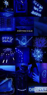 Iphone Neon Blue Aesthetic Wallpaper ...