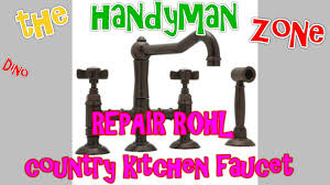 Rohl Kitchen Faucets Reviews Repair Rohl Country Kitchen Faucet A3650 Youtube