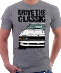 Clasic Toyota Supra Mk2 Late Model T shirt Heather Gray.