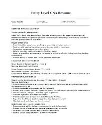 Sample Resume For Nursing Assistant Magnificent Cna Resume No Experience Examples Entry Level Sample Samples Resumes