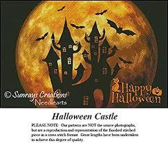 Vintage Cross Stitch Pattern | <b>Halloween Castle</b> (<b>Pattern</b> Only, You ...