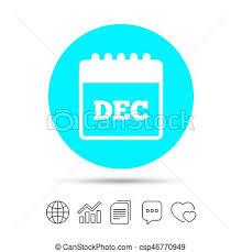 Calendar Sign Icon December Month Symbol Copy Files Chat Speech