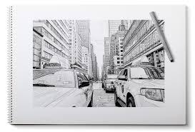 Immagini Belle Taccuino Matita Bianco E Nero New York Taxi La