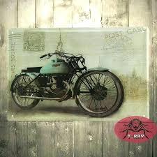metal wall signs metal motorcycle wall art motorcycle wall mural garage oil station tin signs wall