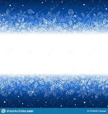 Snowflakes Border For Winter Design Stock Vector
