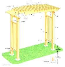 diy garden arbors trellises arbor wood trellis