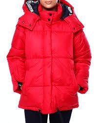 Buy Sm Hooded Bubble Jacket W Slv Opn Logo Detail Womens
