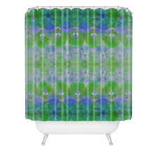 amy sia watercolour tribal green shower curtain