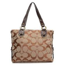 Coach Double Zip Logo Medium Camel Totes EHK .