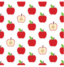 Apple Pattern Cool Apple Pattern On The White Background Royalty Free Vector