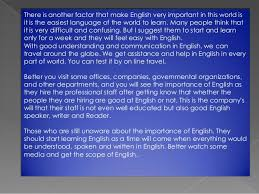 the importance of the english language 7 english in education
