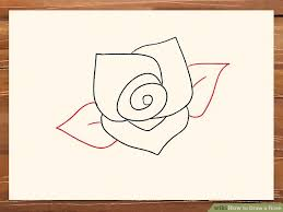 Easy To Draw Roses 3 Ways To Draw A Rose Wikihow