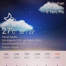 Adana #Seyhan #Hava #durumu #summer #hot #homid #moist #t… |