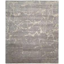 silken shadows silver 6 ft x 7 ft area rug