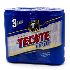 tecate light beer 24oz can 3 pack