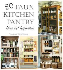 Kitchen Pantry Organization 20 Faux Kitchen Pantry Ideas Stowtellu