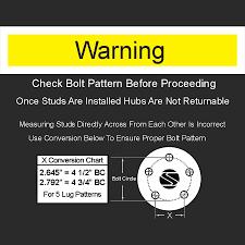 Ford Bolt Pattern Chart Unique Design Inspiration