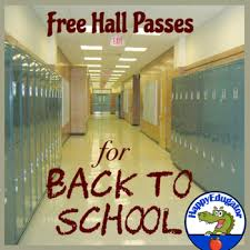 Hall Passes For School Back To School Free Hall Pass Slips By Happyedugator Tpt