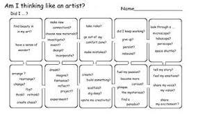 Flow Chart Rubric Art Critique Am I Thinking Like An Artist Flow Chart 1