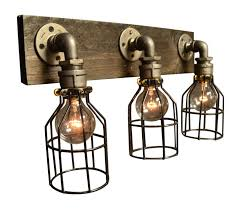 industrial bathroom vanity lighting. Bathroom Vanity Lighting:Industrial Lighting Square Lights 3 Bulb Light Fixture Industrial L