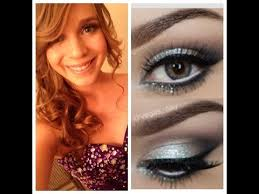prom formal makeup silver smokey eye