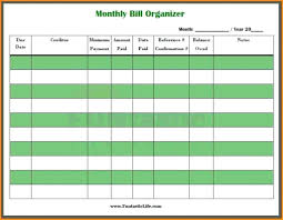 Free Bill Paying Organizer Template Printables Printable Spreadsheet