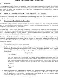 Letter To Repairs Sample Co About Landlord Aderichie Your