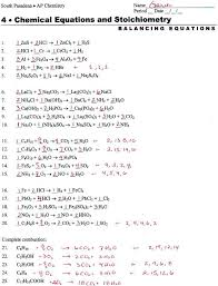 unique balancing equations practice worksheet elegant chemical with answers concept wallpaper 20 examples