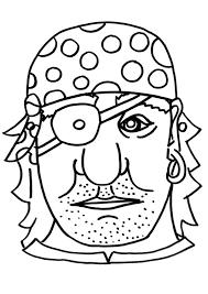 Kleurplaat Masker Piraat Afb 9183 Images