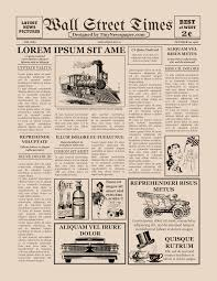 Old West Newspaper Template Vintage