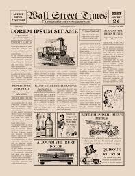 Old Fashion Newspaper Template Editable Newspaper Template Google Docs
