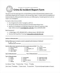 Incident Report Format Letter Elegant Accident Report Form Incident ...