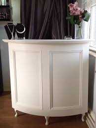 curved salon reception desk french style shabby chic painted for inspirations 10
