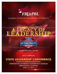 Fbla Graphic Design 2016 Alabama Fbla State Leadership Conference Program 2017 By