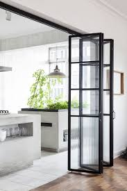 Eco Friendly Kitchen Cabinets Sleek Eco Friendly Kitchen With Glass Folding Doors And Indoor