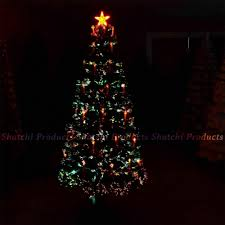 Artificial Christmas Tree Candle Lights Pre Lit Christmas Tree Lights Fibre Optic With Holy Candle Bow